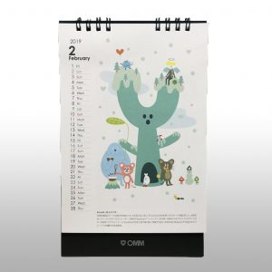 京阪建物株式会社の2019年度企業カレンダービジュアルを制作しました。