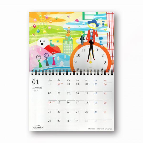 「カミネ」2019年度企業カレンダーのビジュアル